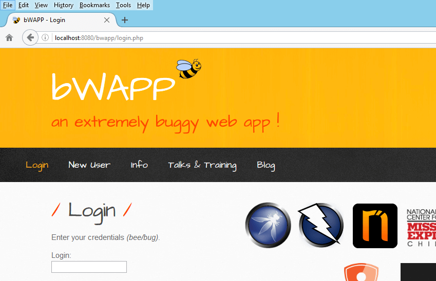Security Testing - Demo Hosted Application - bWAAP