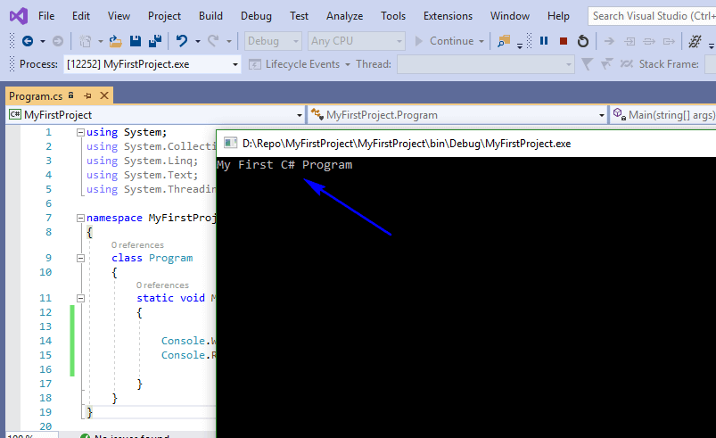 C# for Selenium - Output First Program
