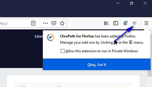 ChroPath Firefox Installation - Added