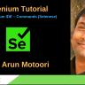 New Selenium IDE – Commands (Selenese)