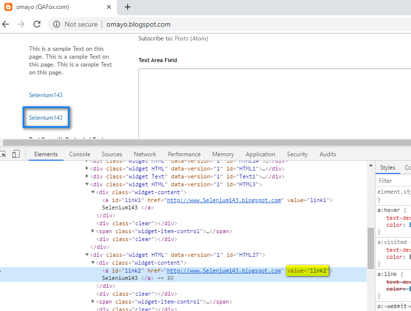 Relative XPath - second hyperlink inspect