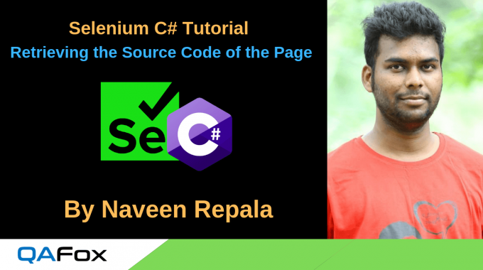 Selenium C Sharp – Retrieving the Page Source