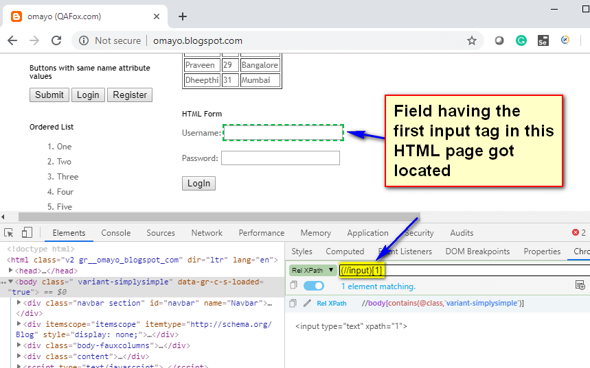 last() XPath Function - input first