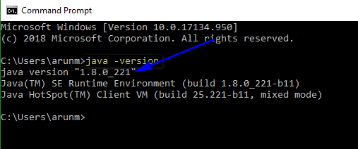 Install and configure Java - java version