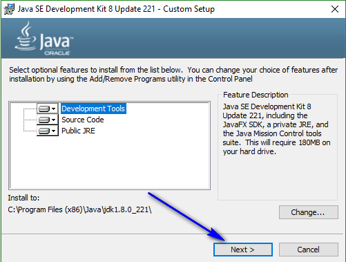 Install and configure Java - next2
