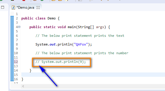 Print Shortcut Eclipse IDE - commenting a statement