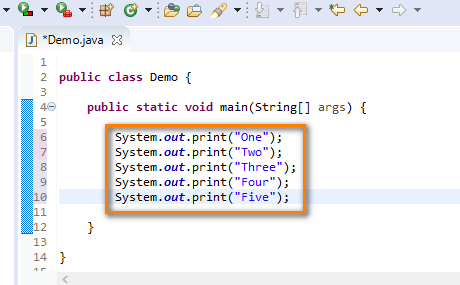 Print statements - multiple print