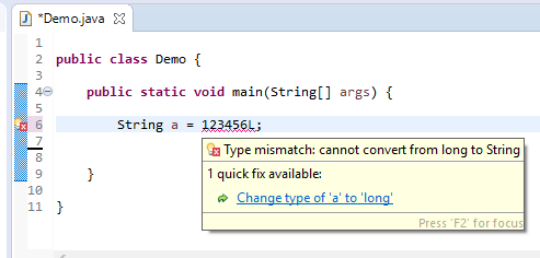 String assign different - long