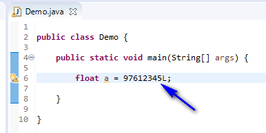 float assigned different - float assign long
