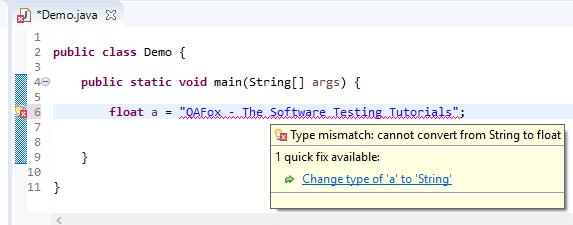 float assigned different - string error