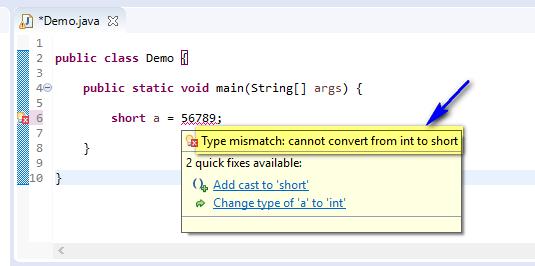 short assigned different - short out of range compiler error