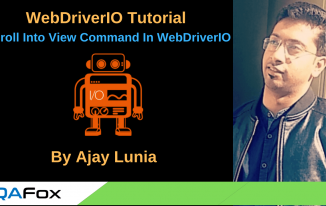 WebDriverIO – Scroll Into View Command in WebDriverIO